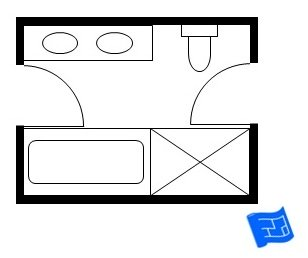 jack and jill bathroom floor plans jack and jill bathrooms for the kids each have thier own