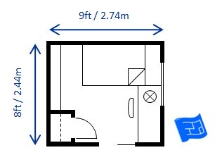 Bedroom size for Bathroom remodel 70 square feet