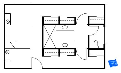 Master bathroom floor plans with walk in closet - photo#37