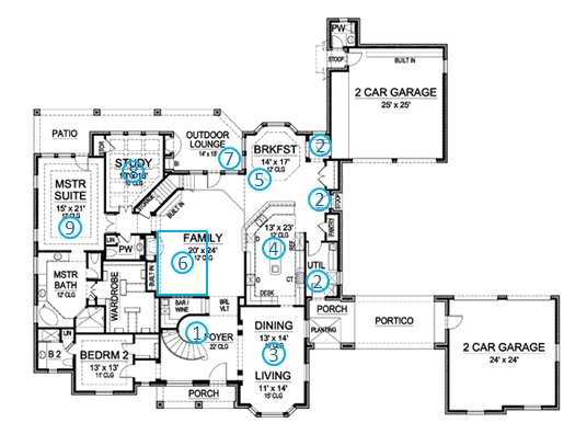 european manor house plan review ground floor