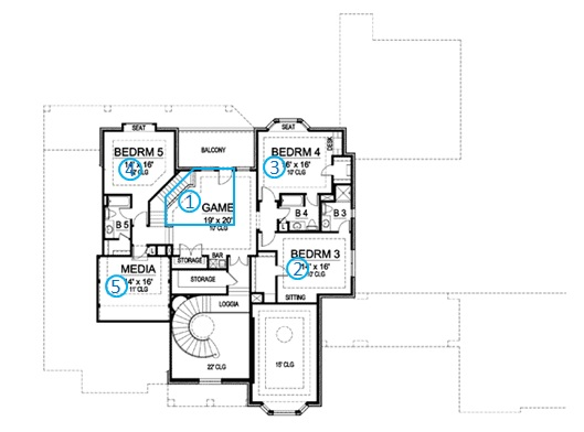 european manor house plan review second floor