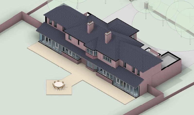 architectural floor plans 3d south elevation set forward across back