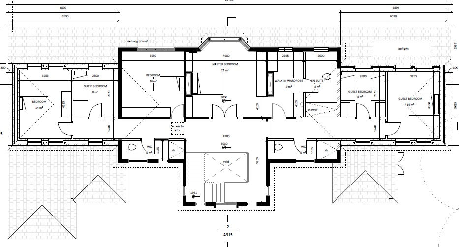 Attractive Architectural Floor Plans First Floor Set Forward Across Back ...