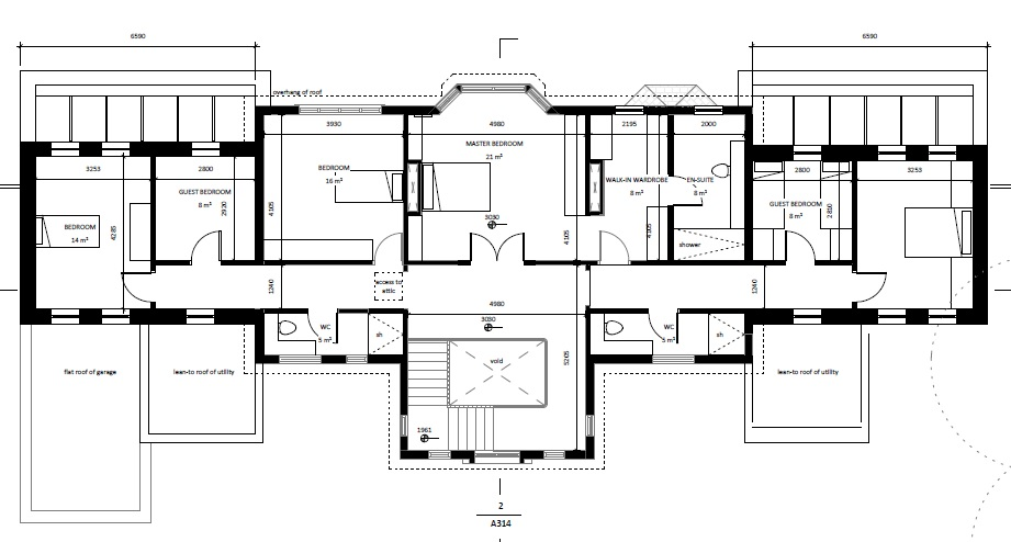 architectural floor plans first floor set forward both sides ...