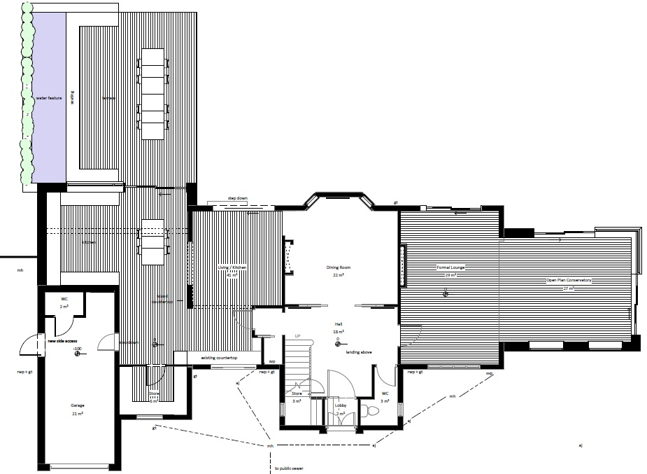 architectural floor plans set forward east ground floor