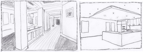Architectural details sketches