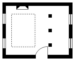 Architectural details on floor plan