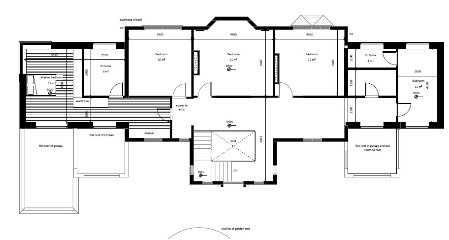 architectural floor plans even wings set back first floor