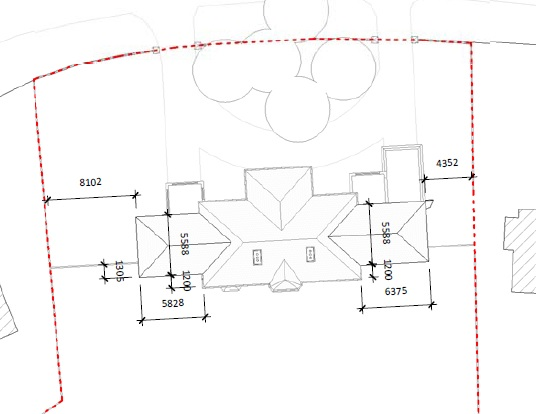 archtiectural floor plans even wings set back roof plan