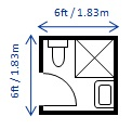 Go to bathroom dimensions