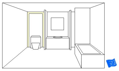 bathroom lighting ideas toilet panel peep