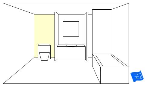 bathroom lighting ideas toilet back panel