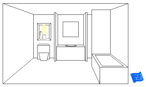 bathroom lighting ideas toilet niche