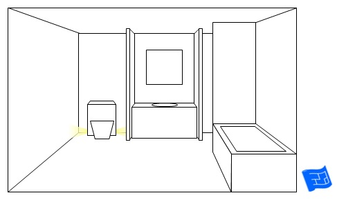 bathroom lighting ideas toilet side lighting