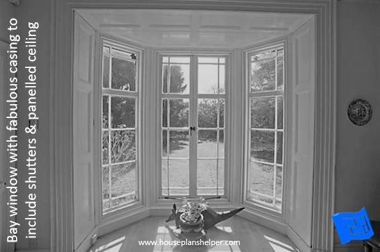 Bay window designs - molding and paneling