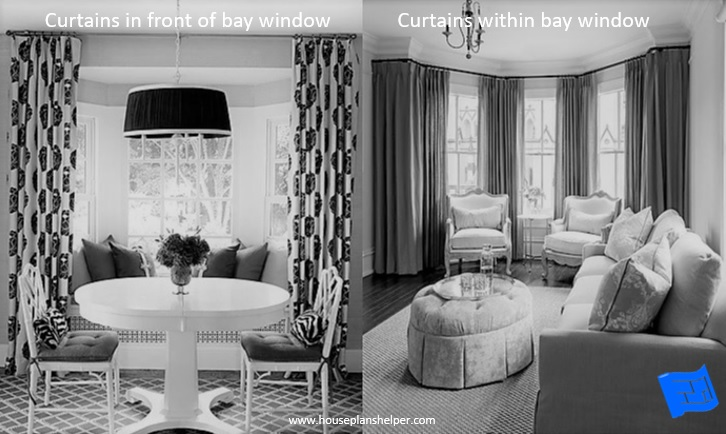 Bay window designs window treatments
