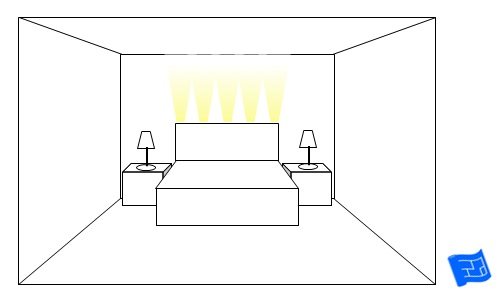 bedroom lighting ideas headboard uplighting