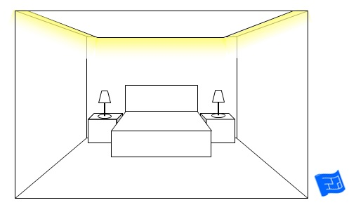 bedroom lighting ideas dropped ceiling
