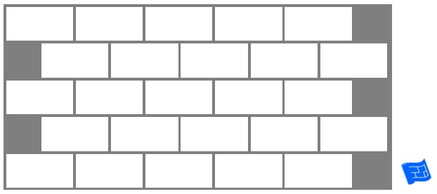 Subway tile brick tile pattern
