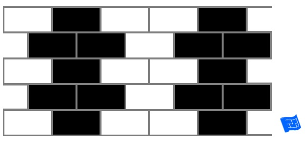 Subway tile brick tile pattern - making shapes