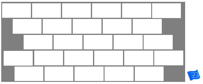 Subway tile brick tile pattern - staggered offset ...