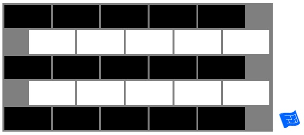 Subway tile brick tile pattern - stripes