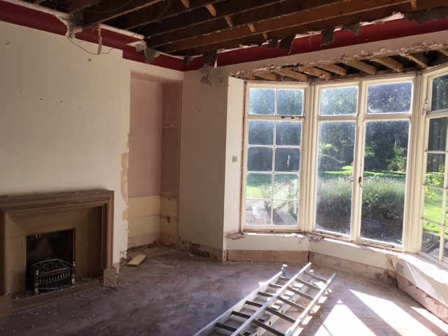 building a house in ireland living room stripped