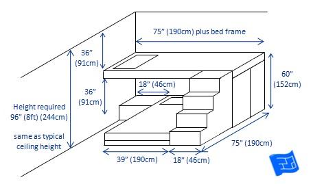 built in bunk beds 2 bunks criss-cross 2