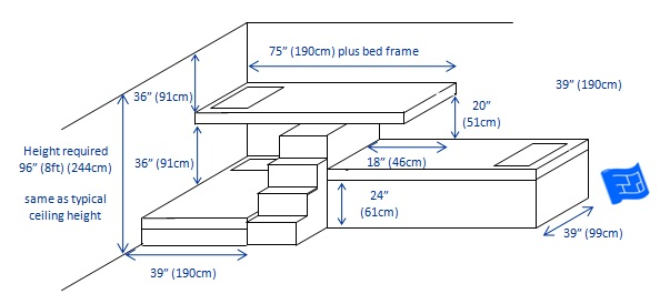 built in bunk beds 3 bunks l shape 3 - Bunk Beds Design Plans