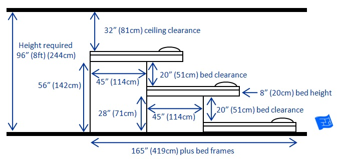 plans for bunk bed with desk underneath
