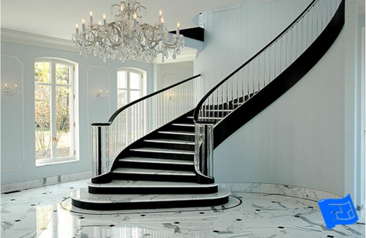 curved stair wrap example