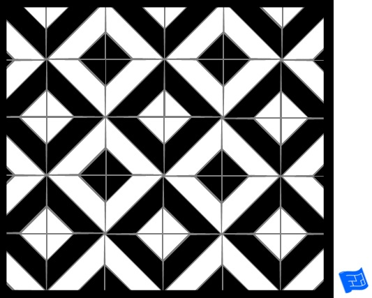 Square tile pattern - large cut square - checker