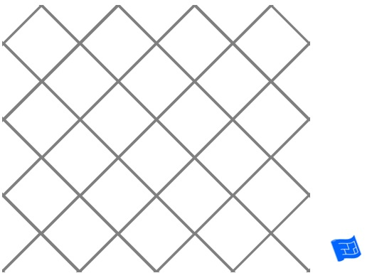 Diagonal square grid tile pattern - plain