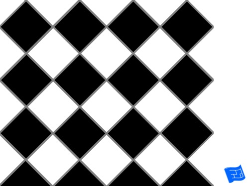 Diagonal square grid tile pattern - checkerboard