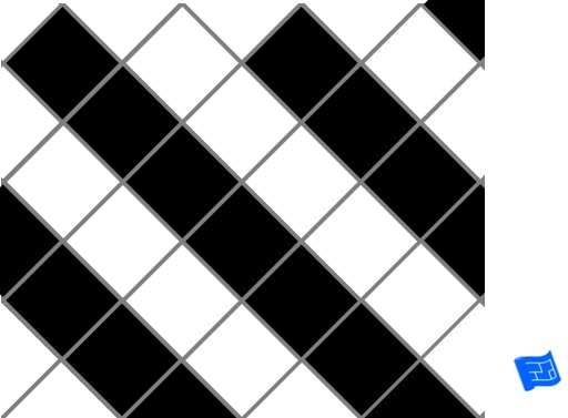 Diagonal square grid tile pattern - stripes 2