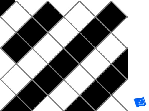 Diagonal square grid tile pattern - stripes