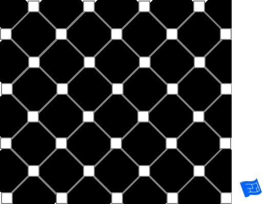 Corner squares diagonal tile pattern - reversed