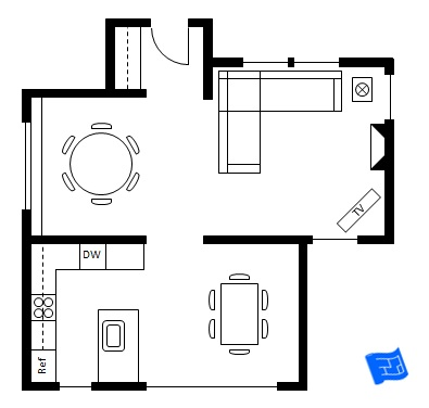 Dining room design for Drawing room floor design