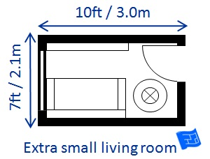 Very Small Living Room Size