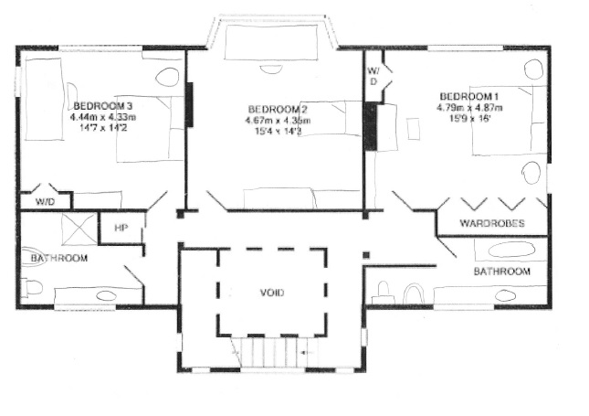 first floor plan with furniture