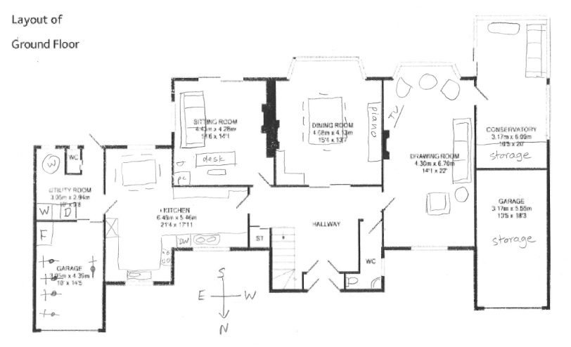 Hereu0027s A Floor Plan Of How Weu0027re Using The Ground Floor As Is. Our  Furniture Is Not The Best Fit But Weu0027re Not Going To Buy Furniture Until  The Remodel Is ...