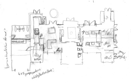 Floor plan layout sketch