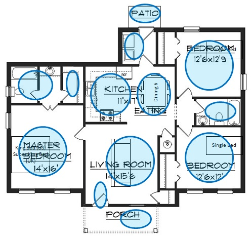 walk through your floor plan room by room