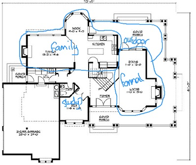 Floor Plan With Room Groupings Marked ...