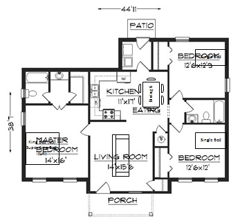 Superb Floor Plan With Furniture Added   Home Design Floor Plans