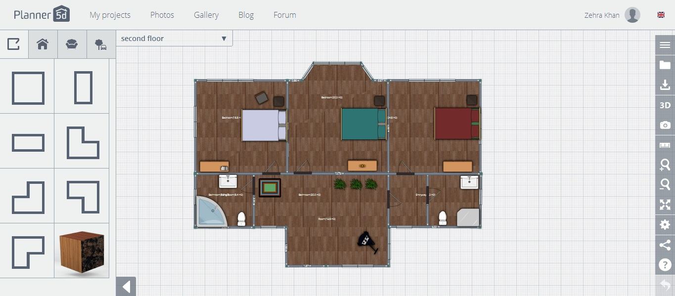 free floor plan software planner 5d review