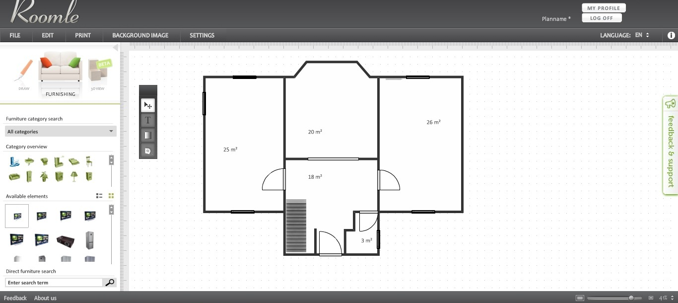 Free Floorplan Software Roomle Area