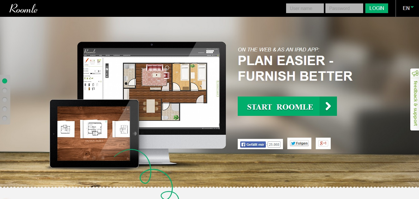 Free Floor Plan Software Roomle Homepage