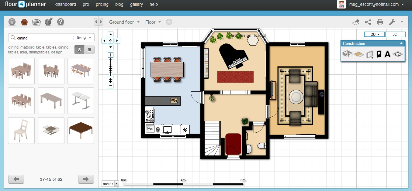 Free Floor Plan Software Floorplanner Ground Floor Furnished