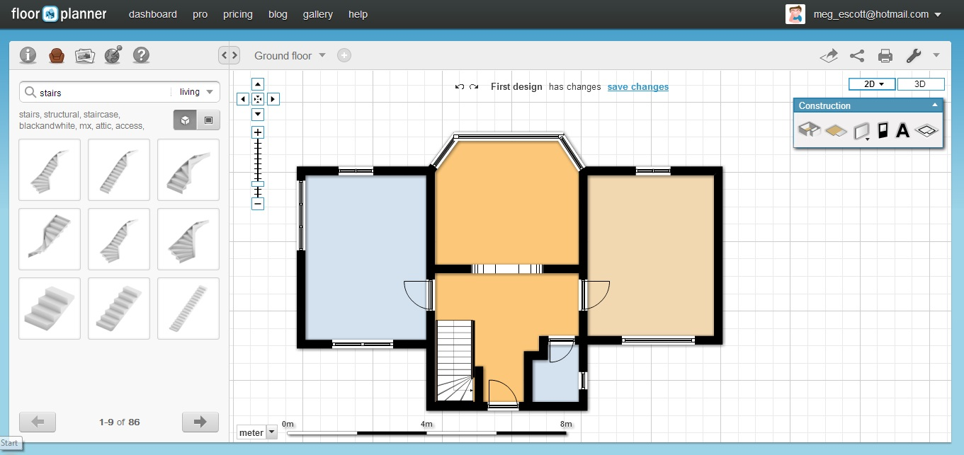 Free floor plan software floorplanner review for Carpet planning software